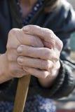 Mão velha Imagem de Stock