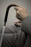 Mão velha Fotografia de Stock