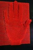 Mão vermelha fotografia de stock
