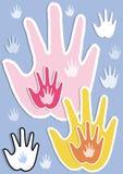 Mãos úteis Imagens de Stock