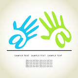 Mãos Ilustração Stock