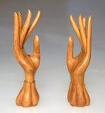 Mãos 3 da madeira imagem de stock