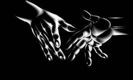 Mãos ilustração royalty free