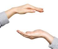 Mãos abertas da mulher Imagem de Stock Royalty Free