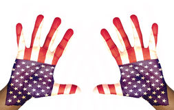 Mãos abertas pintadas Foto de Stock