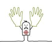 Mãos acima! ilustração stock