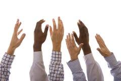 Mãos acima Imagens de Stock Royalty Free