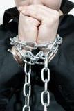 Mãos acorrentadas Fotos de Stock