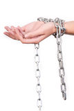 Mãos acorrentadas Imagens de Stock Royalty Free