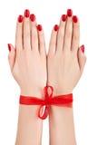 Mãos amarradas. Imagens de Stock Royalty Free