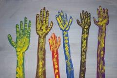 Mãos artísticas Imagens de Stock Royalty Free
