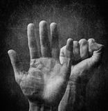 Mãos assustadores Imagem de Stock Royalty Free