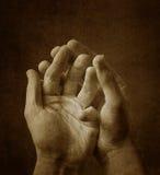 Mãos assustadores Fotos de Stock Royalty Free