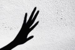 Mãos assustadores da sombra Imagens de Stock Royalty Free