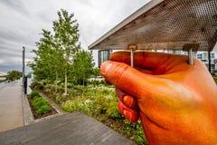 Mãos através da comunidade Imagem de Stock Royalty Free