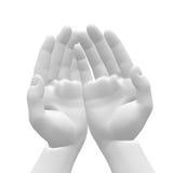 Mãos brancas ilustração stock