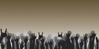 Mãos Cheering Imagens de Stock