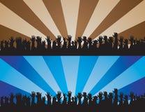 Mãos Cheering II Imagens de Stock Royalty Free