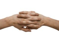 Mãos Clasped Imagem de Stock