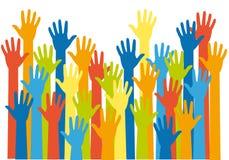 Mãos coloridas,   Foto de Stock