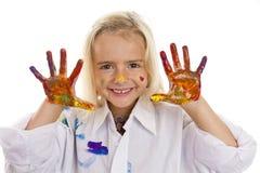 Mãos coloridas Fotografia de Stock