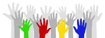 Mãos coloridos Imagens de Stock Royalty Free