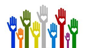 Mãos com amor Foto de Stock Royalty Free