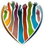 Mãos com amor ilustração royalty free