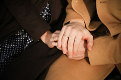 Mãos com anéis Fotos de Stock