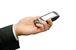 Mãos com comunicador imagens de stock royalty free