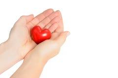 Mãos com coração Imagem de Stock Royalty Free