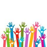 Mãos com corações Imagem de Stock