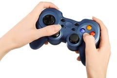 Mãos com gamepad imagem de stock royalty free