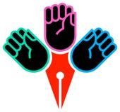 Mãos com nib ilustração royalty free