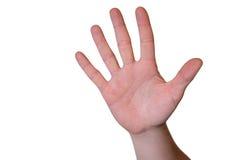 Mãos com parada do símbolo Fotos de Stock