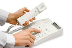 Mãos com telefone Imagens de Stock Royalty Free