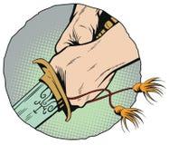 Mãos com uma espada do samurai Ilustração conservada em estoque Fotos de Stock