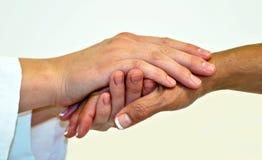 Mãos compassivo Imagens de Stock
