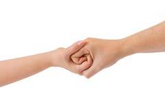 Mãos conectadas Fotografia de Stock Royalty Free