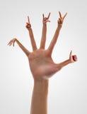 Mãos consideráveis foto de stock royalty free