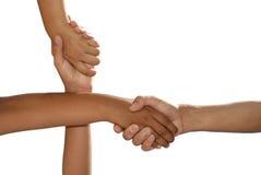 Mãos cruzadas Fotografia de Stock Royalty Free