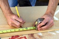 Mãos da construção Fotografia de Stock