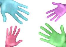 Mãos da cor Ilustração Stock