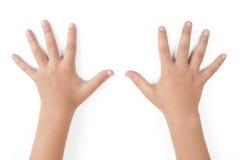 Mãos da criança Fotografia de Stock