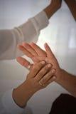 Mãos da cura do amor Fotografia de Stock