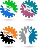 Mãos da engrenagem Imagem de Stock Royalty Free