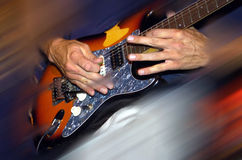 Mãos da guitarra imagem de stock royalty free