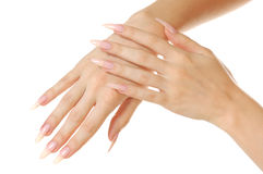 Mãos da mulher fotografia de stock royalty free