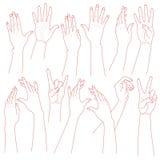 Mãos da mulher ajustadas ilustração royalty free