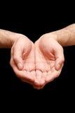 Mãos da oração da religião Foto de Stock